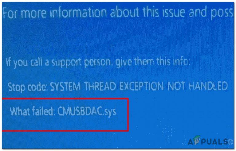 Wie behebt man CMUSBDAC.sys Blue Screen of Death unter Windows 10?
