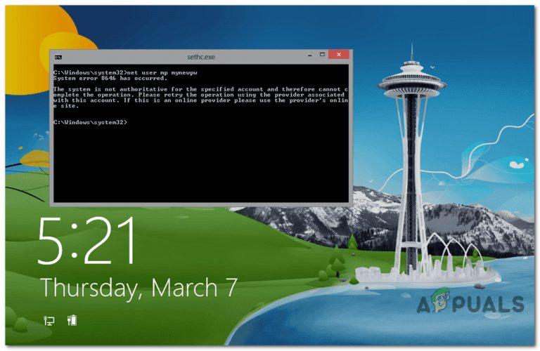 So beheben Sie 'Systemfehler 8646' beim Zurücksetzen des Microsoft-Kontokennworts