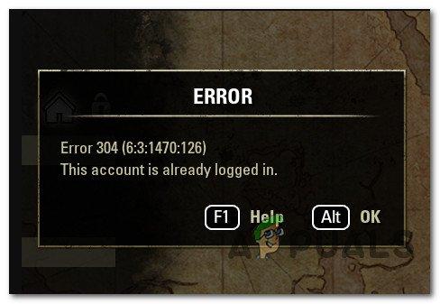So beheben Sie den ESO-Fehler 304 (dieses Konto ist bereits angemeldet)