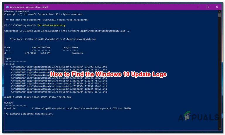 Wie finde ich Windows Update-Protokolle in Windows 10?