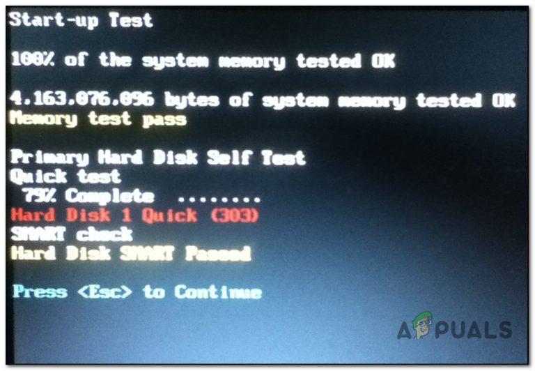 So beheben Sie Hard Disk 1 Quick Error (303) unter Windows