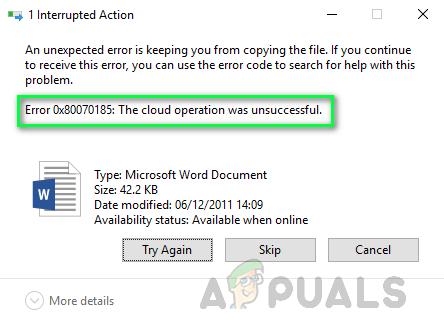 Wie behebt man den OneDrive-Fehlercode 0x80070185 unter Windows 10?