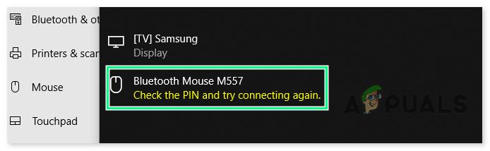 'PIN überprüfen und erneut verbinden' Bluetooth-Pairing-Fehler unter Windows 10 [FIXED]