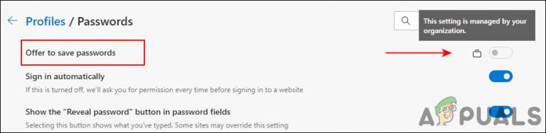 So aktivieren oder deaktivieren Sie das Speichern von Kennwörtern in Microsoft Edge in Windows 10?