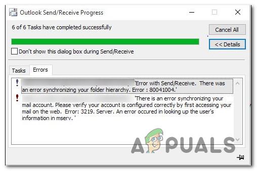 So beheben Sie den Outlook-Fehler 80041004 unter Windows