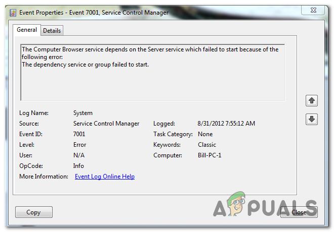 So beheben Sie 'Service Control Manager-Fehler 7001'