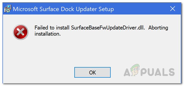 UPDATE: Fehler beim Installieren von SurfaceBaseFwUpdateDriver.dll auf Microsoft Surface