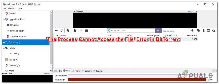 """So beheben Sie den BitTorrent-Fehler """"Der Prozess kann nicht auf die Datei zugreifen"""""""