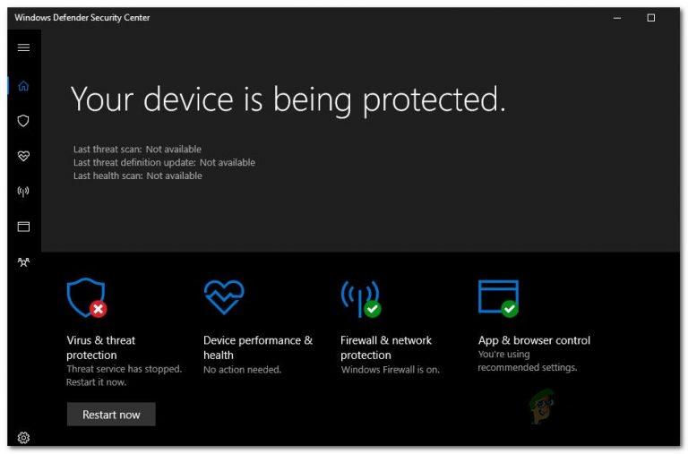 [FIX] Der Windows Defender-Bedrohungsdienst wurde gestoppt