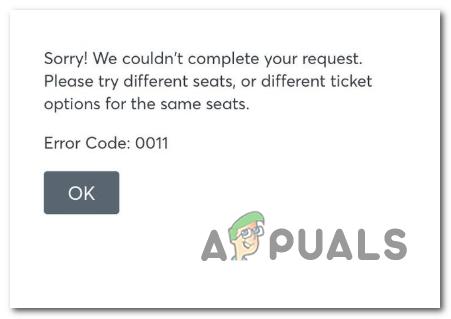 So beheben Sie den Ticketmaster-Fehlercode 0011