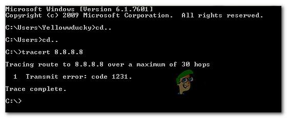 So beheben Sie 'Fehlercode 1231 übertragen'