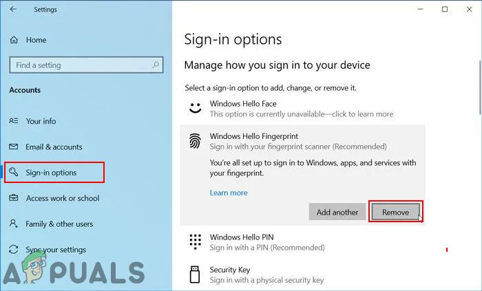 Wie deaktiviere ich die Gesichtserkennung oder die Fingerabdruck-Anmeldung unter Windows 10?